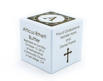 Baptism Gift Boy Personalized Block Baptism For Boy Baptism For Godson Christening Gift Religious Ceremony Baby's Baptism