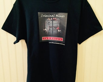 Mimes On Rollercoasters™ Criminal Mimes T-Shirt (Black)