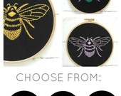 Bumblebee embroidery kit! Modern hand embroidery, bee needlecraft kit, insect embroidery pattern, easy embroidery, DIY stitch kit