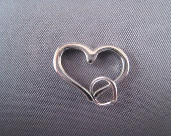 Open Heart .925 Sterling Silver Charm