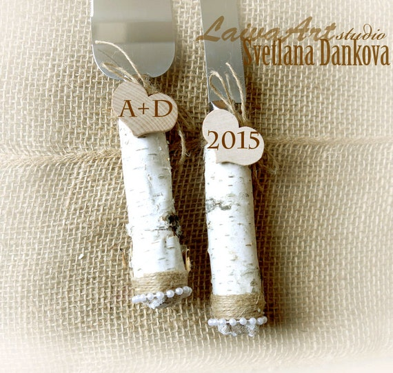 Personalized Wedding Cake Server Set Amp Knife By LaivaArt