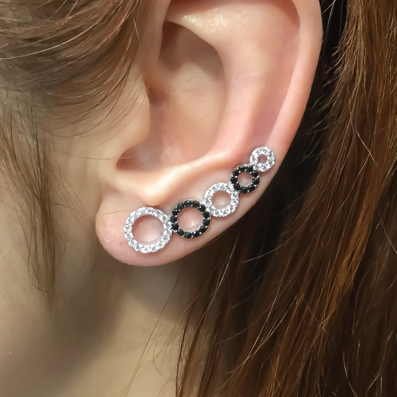 sterling silver ear cuff ear cuffs bohemian ear by trendsilver. Black Bedroom Furniture Sets. Home Design Ideas