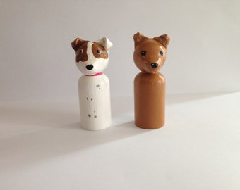 Custom Dog Peg doll