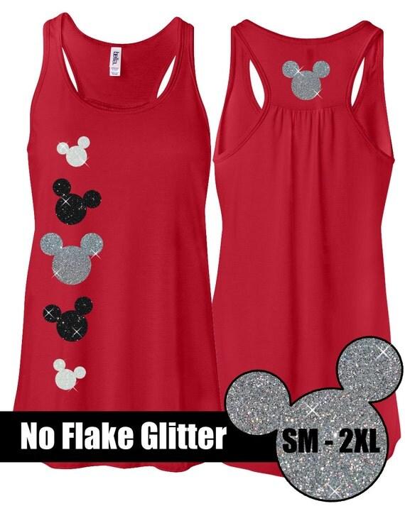 Glitter mickey flowy tank disneyland shirt disney for Best dress shirts in the world