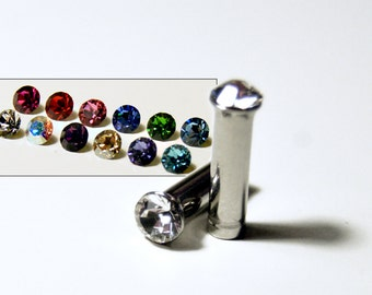 8g 10g 12g 1 Pair Plugs Made With Swarovski Elements 316L Single Flare Tunnels Crystal Gauges Wedding Bridal Plugs Gauges Tunnels Bridesmaid