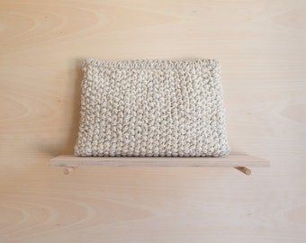 CLUTCH TEXTURE | White & Natural | SALE 20 %