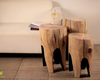 Stump Stool Wooden Furniture Pine Table Wood Log Side Table Coffee