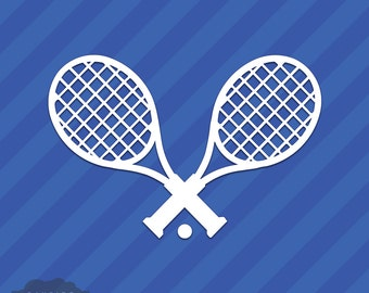 Tennis Rackets Vinyl Decal Sticker