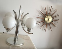 1970's Chrome table lamp/ 4 globes/