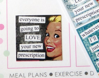 Sassy Buttercup Planner Stickers for Erin Condren Planner, Filofax, Plum Paper, etc