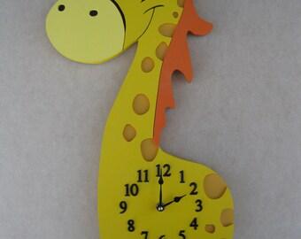 Wall Clock Giraffe Baby's Room