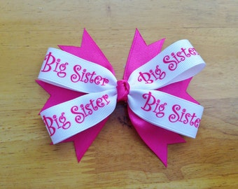 Big Sister Hair Bow - Lil Sister Hair Bow - Big Sister Stacked Hair Bow - Lil Sister Stacked Hair Bow