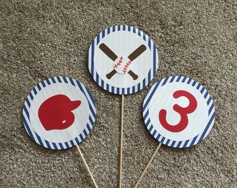 Baseball Birthday Centerpiece - Train Birthday Centerpiece - Baseball Birthday Decorations - Train Birthday Decorations