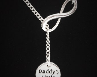 Gift For Her, Infinity Daddy's Little Girl Necklace, Daughter Necklace, Christmas Gift Y Lariat Necklace