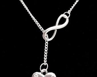Infinity Grandma Grandmother Granny Nana Forever Gift Y Lariat Necklace