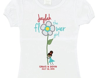 Custom I'm the Flower Girl Tshirt, any colors