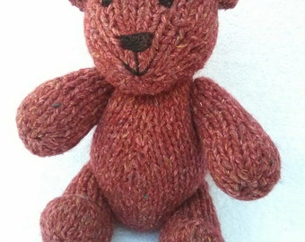 Sesame the Hand Knit Teddy Bear, Knitted Bear, Knitted Toys, Bear, Children Baby, Gift, Stuffed Animal, Bear Toy, Stuffed toy, Hand Knit Toy