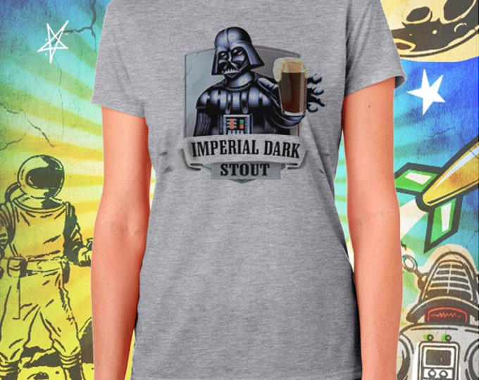 Darth Vader Women's Imperial Dark Stout Women's Gray T-shirt Star Wars Shirt
