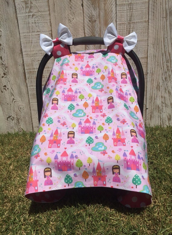 custom baby girl car seat cover princess car seat canopy. Black Bedroom Furniture Sets. Home Design Ideas