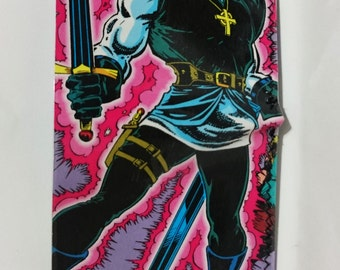 bloodwraith - recycled comic book wallet, slim wallet, hanmade wallet, card holder, thin wallet, vinyl wallet, men's wallet