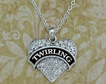 Twirling Heart Necklace
