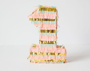 Pinata Fringe Number Letter, First Birthday Pinata, Number Pinata, Cake Smash, Wedding Pinata, Bridal Shower Decor, Candy Buffet Centerpiece