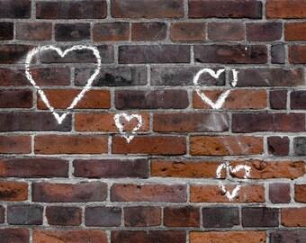 Hearts Print, Hearts Decor, Hearts Art, Orange Print, Orange Art, Orange Decor, Orange Wall Art