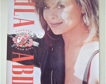 """PAULA ABDUL * Promo Poster * Forever Your Girl * Original Promotional Art * Vintage 1988 * 24""""x36"""" * Collectible"""