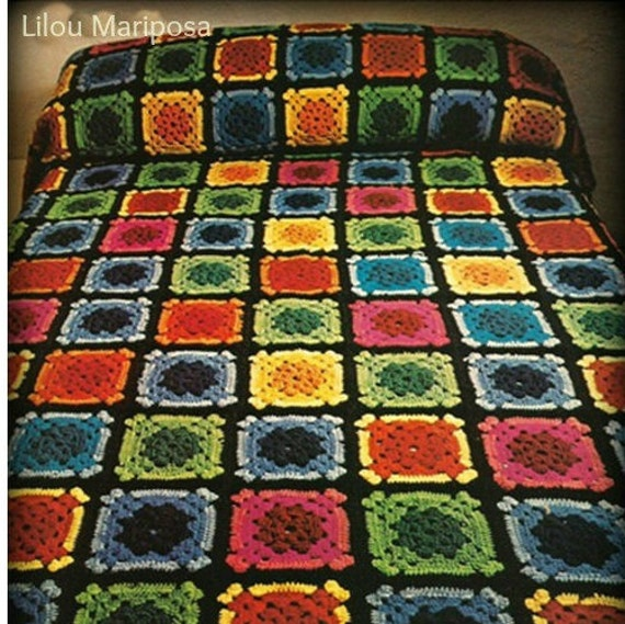 Book Cover Crochet Quilt Pattern : Items similar to crochet bedspread pattern vintage s