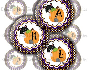 Halloween Bottle Cap Images. 1 Inch Digital Cupcake Topper. Initial Bottlecap. Hair Bow Center. Bottle Cap Key Chain. Halloween Craft 184