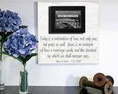 Parents Wedding Gift, Parents of the Bride, Father of the Bride Gift, Thank You Gift, Personalized Picture Frame 16x16