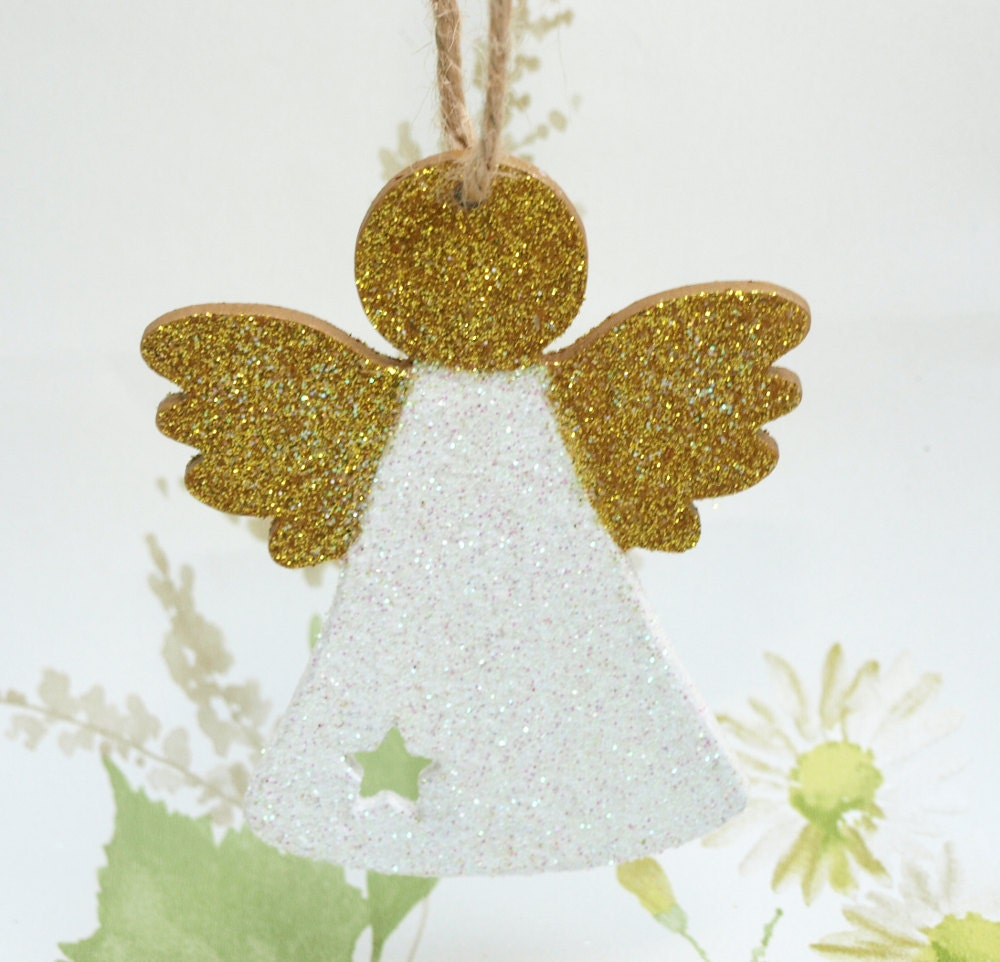 Christmas angel christmas fairy wooden decoration holiday for Angel of the north christmas decoration