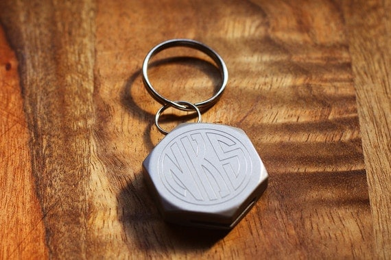 hexagon engraved beer bottle opener and keychain personalized. Black Bedroom Furniture Sets. Home Design Ideas