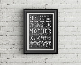 Gift For Mom Mother Print Definition Of A Mother  Gift For Mother  Gift Ideas For Mom