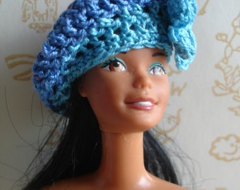 Beret rainbow sky # 1 for Barbie doll or similar size