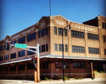 Fairmont Creamery - Historical Building Photography - 4x4 photo print