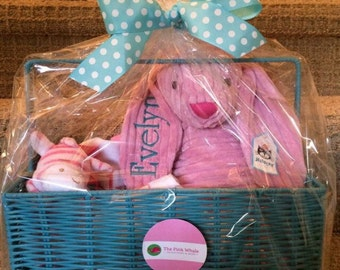 Personalized Baby Basket - Baby Present - New Baby - Baby Gift - Personalized Gift - Monogram - Monogrammed Gift