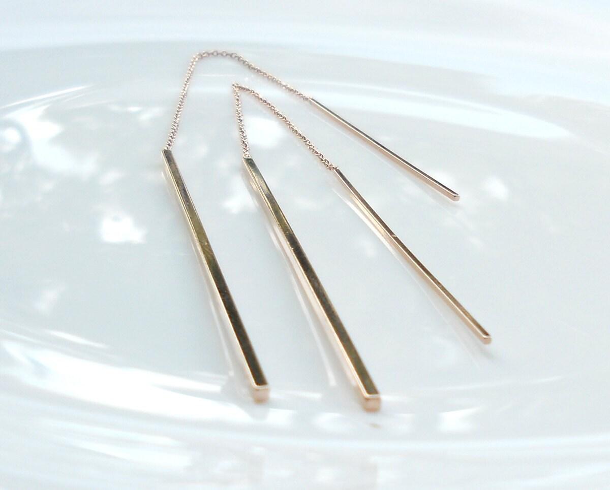 Gold Threader Earrings 🔎zoom