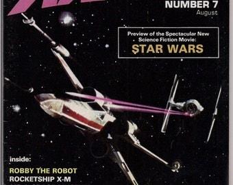 Scarce, Starlog #7, FIRST STAR WARS Magazine, Robby the Robot,Rocketship X-M,Kelly Freas,Star Trek,Science Fiction, Fantasy,George Lucas