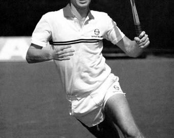 John McEnroe Poster, Tennis Champion, Wimbledon, US Open, Grand Slam