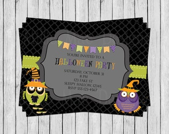 SALE 50% OFF Custom Halloween Party - Birthday Party - Trunk Or Treat - Invitation
