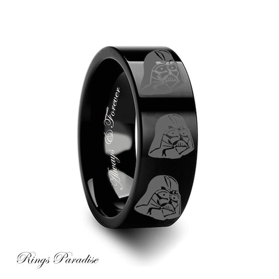 darth vader wedding ring wars rings darth vader wars black by ringsparadise 3313