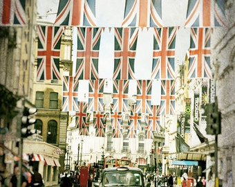 London Photography, Black Taxi Cab, Big Ben, Union Jack, British Flags, British Decor, London Print, Travel Photo, London Decor, Wall Art
