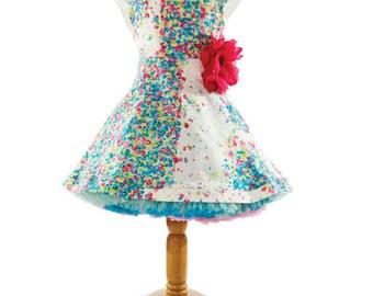 Girls Dress Pattern, Peak-a-b00 Dress Pattern, Sewing Patterns, Sewing Patterns online Australia