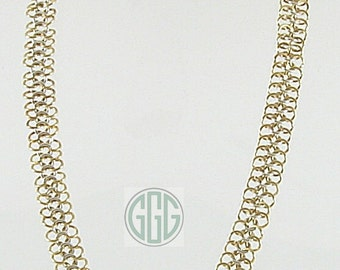 Necklace - European Four In One Chain Maille In Gold & Silver (N013)