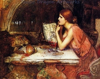"John Waterhouse ""Sketch of Circe"" c1911 Reproduction Digital Print Goddess of Magic Sorceress Witch"