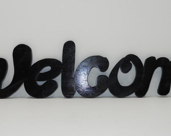 """SALE """"Welcome"""" handmade wooden wall sign decoration"""