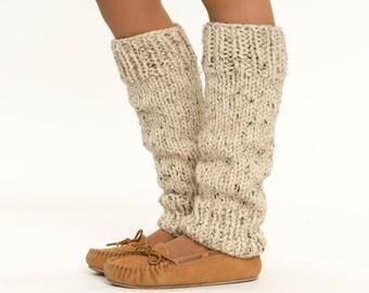 Chunky Knit Wool Leg Warmers, Handmade Knitted Leggings, Ankle Warmers, Women's, Teen's Warm, Soft Cozy Winter Accessory