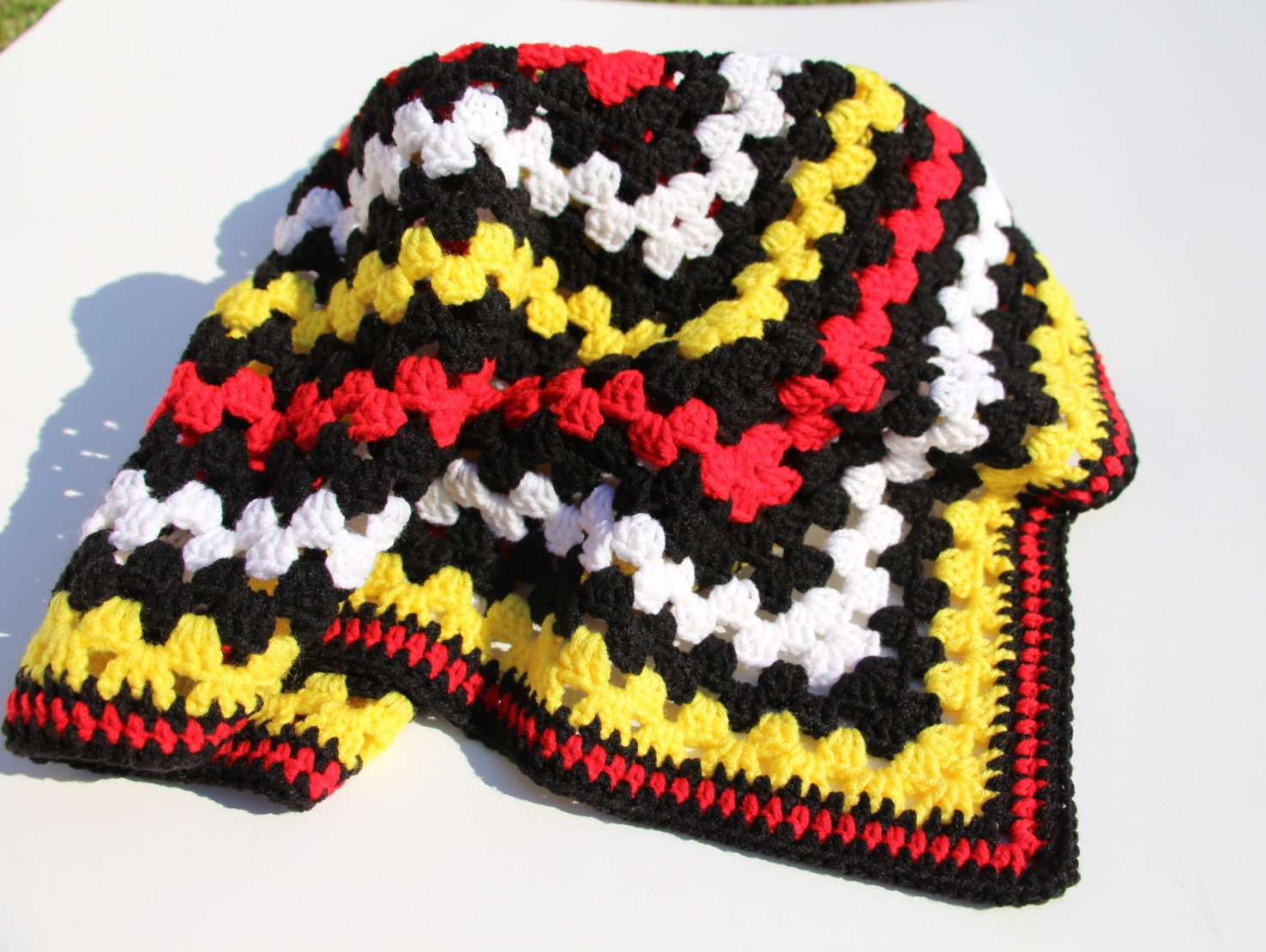Mickey Mouse Crochet Baby Blanket Pattern : Mickey Mouse Blanket Crochet Baby Blanket Handmade Blanket