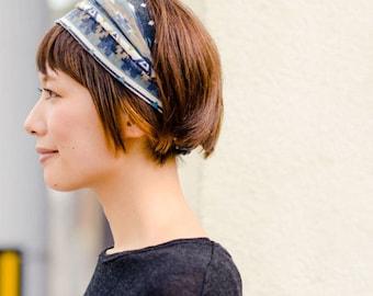 Japanese Quality Tie Dye Elastic Head Wrap Bandanna Headband